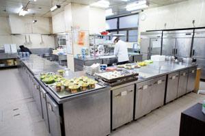 丹泉ホテルの調理場